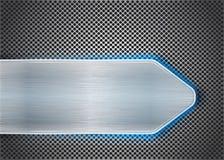 Metal escovado no metal textured Imagens de Stock