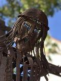 Metal a escultura de Jesus Christ que pendura em uma cruz em Miami, Florida Foto de Stock