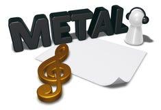 Metal a etiqueta, anule a folha do Livro Branco e o penhor com fones de ouvido Fotografia de Stock Royalty Free