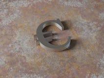 Metal euro Royalty Free Stock Image