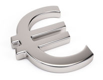 Metal euro symbol Stock Images