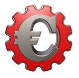 Eurosymbol- und Gangrad Stockbilder