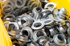 Metal eyelets Royalty Free Stock Image