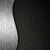 Metal and fabric material template background Royalty Free Stock Image