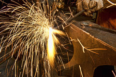Metal Fabrication Sparks Royalty Free Stock Images