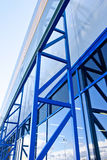 Metal facade. Of modern industrial building Stock Photography