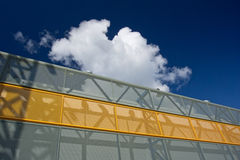 Metal facade. Of modern industrial building against the sky Royalty Free Stock Images