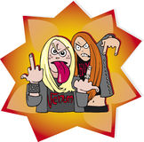 Metal fans girls Stock Photography