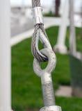 Metal fastening Stock Image