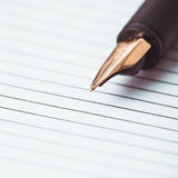 Metal feather pen Royalty Free Stock Photography