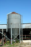 Metal feed silo Royalty Free Stock Image