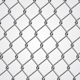 Metal Fence. Realistic metal chain fence backgtround Royalty Free Stock Photography