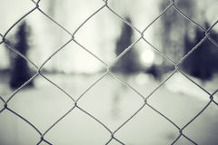 metal fence background Stock Images
