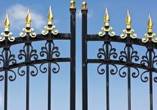 Metal Fence Close Up Stock Photos