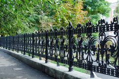 Metal fence - close-up stock image