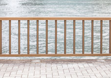 Metal fence and concrete floor Stock Image