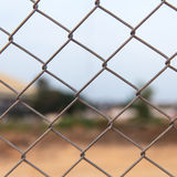 Metal fence. At construction site royalty free stock image