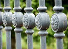 Metal fence details Royalty Free Stock Photos