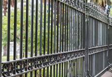 Metal fence Royalty Free Stock Photo