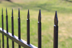 Metal fence. The metal fence are like guards Stock Image
