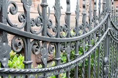 A metal fence made of wrought iron in Hannover, Germany, Europe Stock Photo