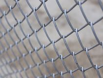 Metal fence. With concrete background Royalty Free Stock Photos