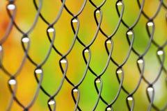 Metal fence pattern Stock Photos