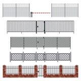 Metal fences and gates. Stock Photo