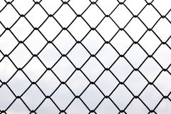 Metal fences in horizontal Stock Images