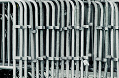 Metal fences stand together Royalty Free Stock Photos