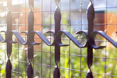 Metal fencing Stock Image