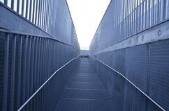 Metal fencing and walkway Royalty Free Stock Image