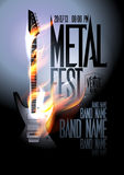 Metal fest design template. Royalty Free Stock Photos