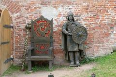 Metal figure of ancient druzhinnik Stock Photo
