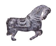 Metal figure of a horse Royalty Free Stock Image