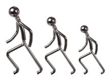 Metal Figures. On White Background Stock Image