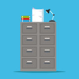 Metal filing cabinet storage lapm office. Vector illustration eps 10 Stock Photos