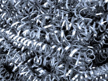 Metal Filings. Grey silver steel iron filings Royalty Free Stock Photo