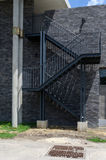 Metal fire escape on the external wall Stock Images