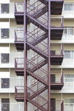 Metal fire escape Stock Image