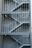Metal fire escape outside building . Royalty Free Stock Image
