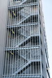 Metal fire escape outside building . Royalty Free Stock Images