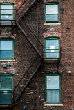 Metal fire escape Stock Images