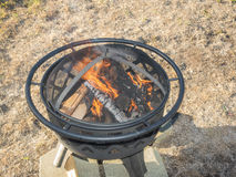 Metal fire pit Stock Photo