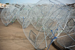 Metal fishing nets Royalty Free Stock Images