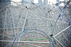 Metal fishing nets Stock Photos