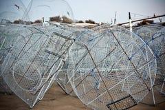 Metal fishing nets Stock Image