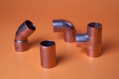 Metal fittings Stock Photo