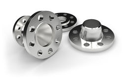 Metal flanges Stock Photo