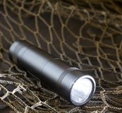 Metal flashlight Stock Photos
